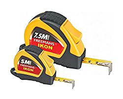 FREEMANS Ikon 5m:19mm Measuring Tape + Ikon 7.5m 25mm Measuring Tape