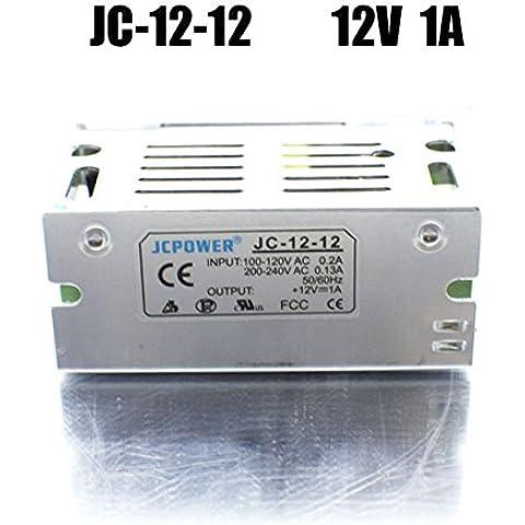 bsod universal de regulados de DC 12V 1A/2A/3A/5A Fuente de alimentación conmutada–Conductor, Introdujo una buena iluminación disipación del calor Proyecto de AC DC de corriente en caja de aluminio de bsod