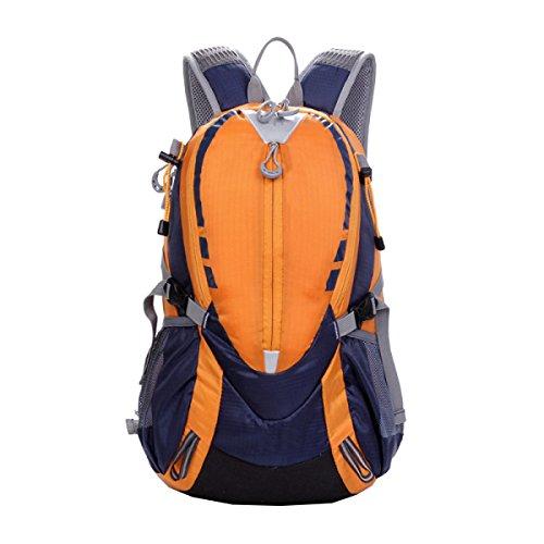 Pacchetto Da Campeggio Borsa Da Viaggio Borsa A Tracolla Da 25L Borsa Da Viaggio Zaino Trekking Zaino Studentesco. Multicolore Orange