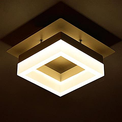 Led Ceiling Lamp Simple Aisle Lights Hall Lights Balcony Corridor Lights Creative Square Lights White Light 20 * 20Cm 12W