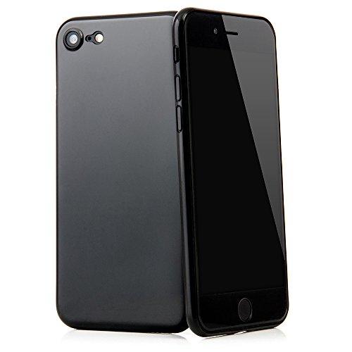 """QUADOCTA iPhone 7 (4,7"""") Ultra Slim Hülle - Schutzhülle - """"Tenuis"""" in Schwarz - Ultra dünnes Case - Leicht transparentes Cover kompatibel mit Apple iPhone7 mit Kameraschutz Diamant Schwarz"""