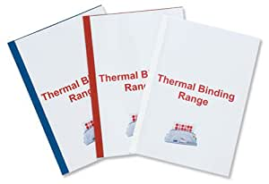 GBC ThermaBind Pack de 100 Reliures spirale plastique thermique Standard 4 mm Blanc