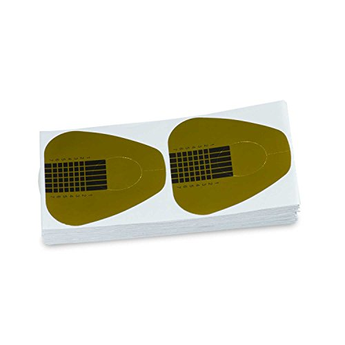 Nailsfactory Rouleau de 100 pochoirs ronds manucure Rouleau de pochoirs pochoir en papier ongles Nail Art Forms