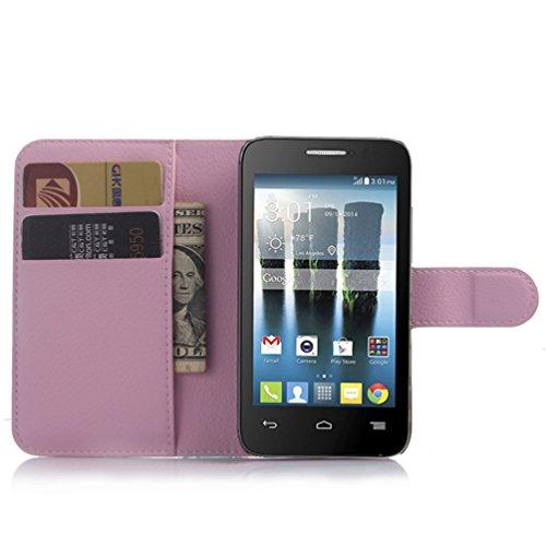 Manyip Téléphone Coque - PU Cuir rabat Wallet Housse [Porte-cartes] multi-Usage Case Coque pour pour Alcatel One Touch Evolve OT4037 Classique Mode affaires Style(JFC2-1) D