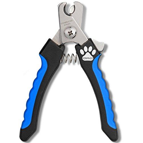 KIRANDO Hochwertige, professionelle Krallenzange - Kompakt und handlich, einfach & sicher in der Handhabung, perfekt im Ergebnis - Für kleine, mittlere & große Hunde, Katzen und Nager