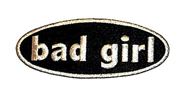 Officially Licensed Original Artwork High Quality Iron-On // Sew-On 4.5 x 1.5 Embroidered PATCH Flicken BAD GIRL