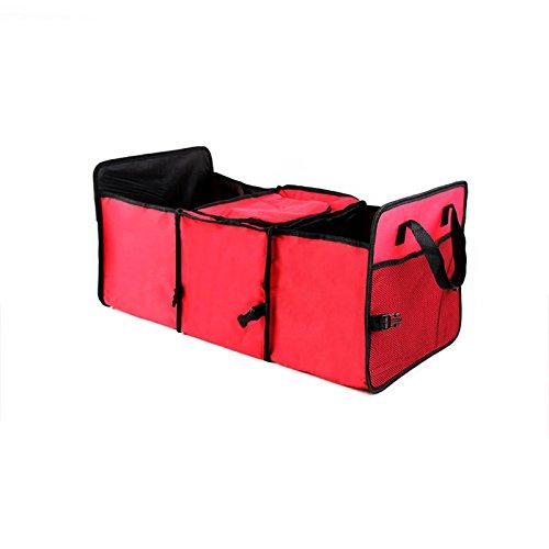 Sedeta® Auto-Kofferraum Organizer RV Trunk Organizer Frachtaufbewahrungsbehälter-Behälter Strong & Durable für Auto, LKW, SUV rot Rv-ausrüstung
