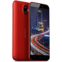 Ulefone S7 Telephone Portable 3G, Multi-Couleur Ecran 5.0 Pouces HD, 2500mAh, Android 7.0, Softlight Caméra Frontale 5MP, Quad-Core, 2G +16G, SIM Nor+SIM Micro+TF, Bluetooth 4.0 - Rouge