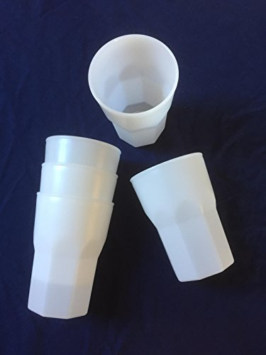 25Bio/Eco Bicchieri Riutilizzabili Bicchieri di plastica Cocktail Tazza 0,3L a base di canna da zucchero, versione pesante 100% Made in Germany