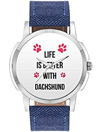 Wrist Watch For Men - Life Is Better With Dachshund | Best Gift For Dachshund Dog Lovers - Analog Men's And Boy's...