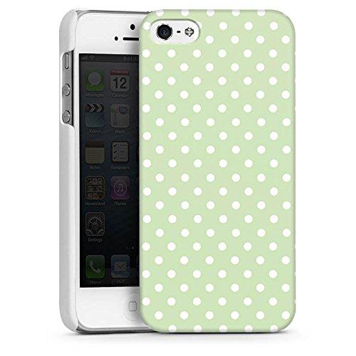 Apple iPhone 5s Housse Étui Protection Coque Polka Petits points Motif CasDur blanc