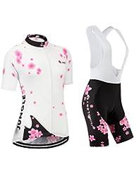Maillot de Cyclisme Femme Manches Courtes jersey(S~5XL,option:Cuissard,3D Coussin) N207