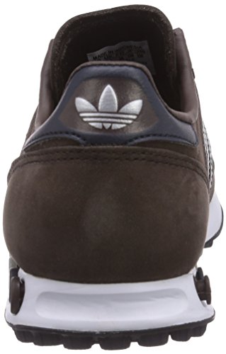 Adidas - La Trainer, Sneakers, unisex Marrone (Dark Brown/Legend Ink S10/Metallic Silver-Sld)