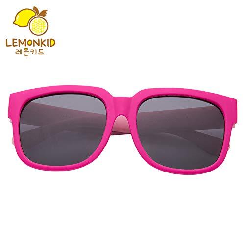 YRE Kinder-Sonnenbrillen Mode Persönlichkeit Harz Baby Sonnenbrille, weiches Rahmen polarisierten Kinder-Schattenspiegel, Red