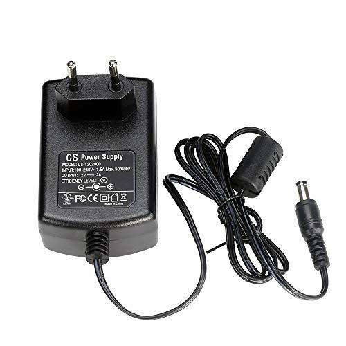 ZOSI DC 12V 2A Netzteil Adapter Trafo Power Supply Netzgerät 5.5mm x 2.1mm EU-Stecker für CCTV DVR Kamera Schwarz 12 Volt 2 Amp