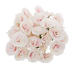 50pcs k nstliche seide rosen bl tenk pfe blumen k pfe hochzeit parteidekor bulk rosa. Black Bedroom Furniture Sets. Home Design Ideas