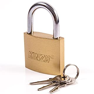 Heavy Duty 30mm Brass Padlock with 3 Keys - Hand Luggage/Locker/Bag