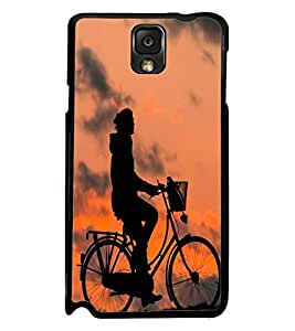Printvisa Shadow Image Of A Cyclist Back Case Cover for Samsung Galaxy Note 3 N9000::Samsung Galaxy Note 3 N9002::Samsung Galaxy Note 3 N9005 LTE