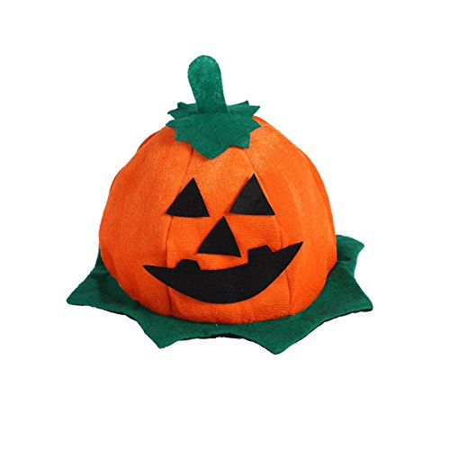 BESTOYARD Kürbis Hut Party Halloween Cosplay Jack-O-Laterne Hut Halloween Kostüm Dress-up Hut Requisiten für Erwachsene und Kinder (Grüne Lotus Leaf)