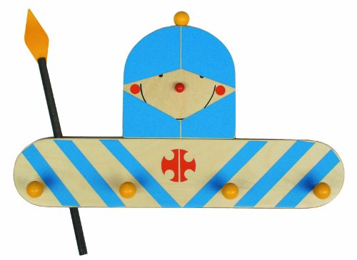 Niermann-Standby 929 - Garderrobe Ritter - Hier hängt der kleine Ritter sein Rüstung auf. Garderobe auf Holz mit 4 Haken