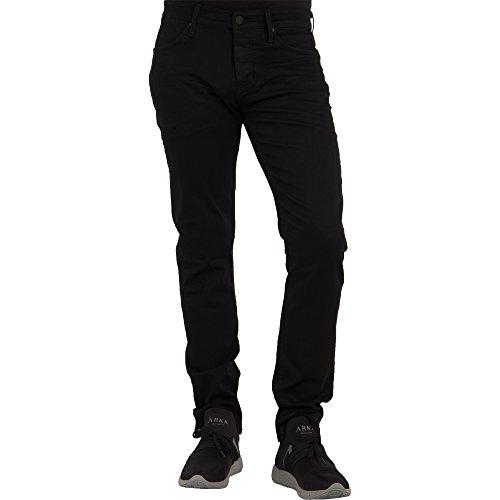 Mavi Herren Slim Jeans Yves Black Coated