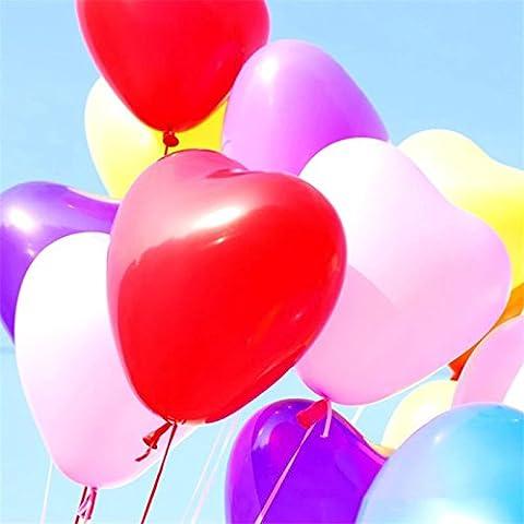 Ballons, Coxeer 100 PCS Ballons pour Anniversaire Mariage Wedding Party Ballons en latex Ballons Gonflable Balloons Fête et Soirée