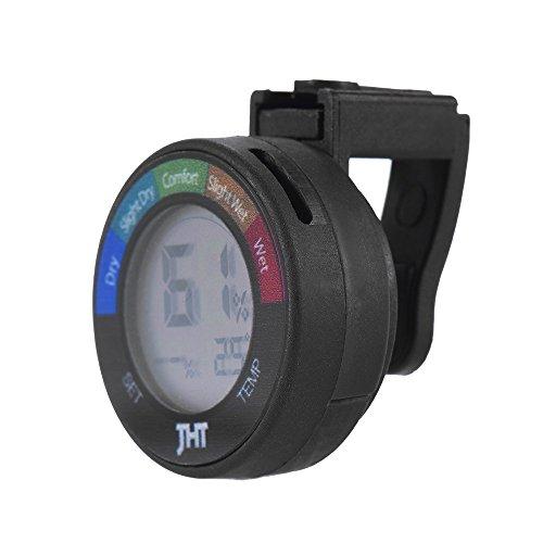 ammoon Mini Instrument Digital Feuchte und Temperatur Sensor Prüfvorrichtung Thermometer Hygrometer mit LCD Display für Klavier Gitarre Violine