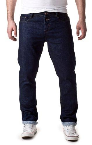 Eight2Nine Herren Straight Leg Jeans Schmale Jeans Hose mit Druck Blau