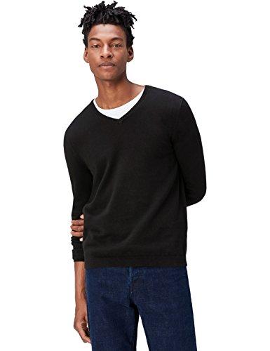 Find pullover con scollo a v uomo, nero (schwarz), medium