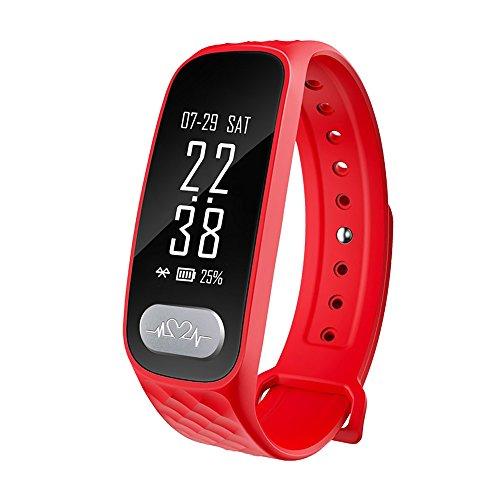 Damen Fitnessarmband Wasserdicht Digital Sport Uhr mit Puls Schrittzähler Schlafmessung Benachrichtigungen Sportuhr Weck Funktion