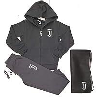 Completo Felpa + Pantaloni Tuta Bambino Ragazzo Juventus FC Juve Prodotto Ufficiale (Grigio) + Omaggio Zainetto Porta Tuta (10 Anni)