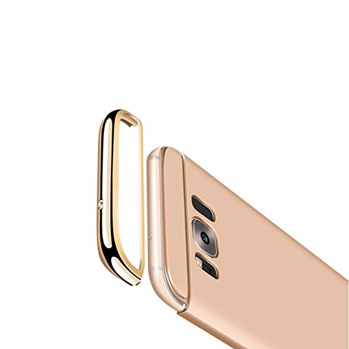 Handyhülle Hybrid Electroplate Hart PC Plastik Slim Bumper von ZhinkArts für Apple iPhone 5 / 5s / SE Rosegold / Rosa Gold