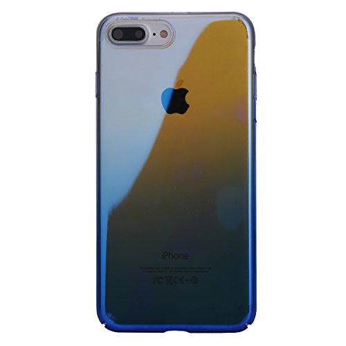 Coque iPhone 7,Étui iPhone 7,Coque Étui Case pour iPhone 7,ikasus® Étui silicone pare-chocs histoire couleur miroir souple TPU Coque iPhone 7 Silicone Étui Housse Téléphone Couverture TPU Clair éclat  Bleu