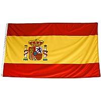 esvendio Bandera de España Grande (2pcs) de Tela Fuerte, Bandera Española para Exterior 150x90 cm