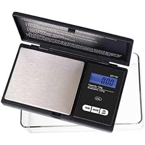 On Balance DZT-100-Bilancia digitale tascabile, colore: nero, 100 x 0,01 g, Extra Large, con vassoio di espansione