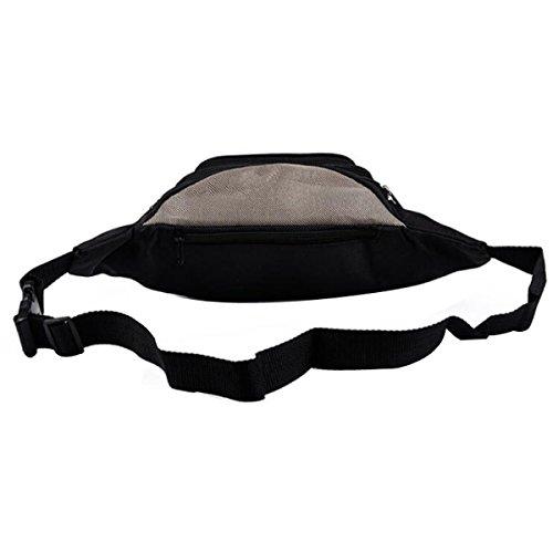 Outdoor-Sporttaschen Für Herren Wasserdichter Hüfttasche,Beige Purple