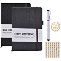 Dotted Cuaderno, Arfbear Cuaderno A5 Bullet Journal Planificador Bloc de notas de tapa dura con Bolígrafo - Papel Grueso Premium de 100g, 200 Páginas, Bolsillo Trasero
