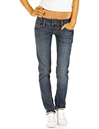 Bestyledberlin Damen Jeans Hosen Regular Fit Hüftjeans Gerades Bein Stretch j79kw