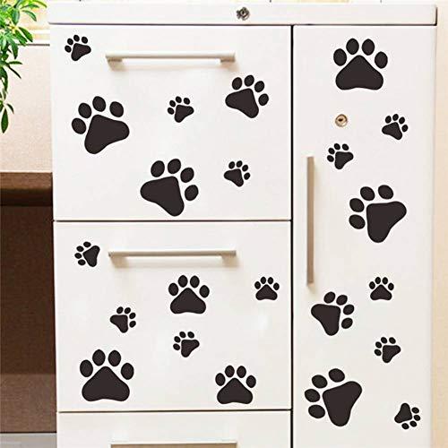 Art Print Schüssel (WHFLL Multi Größe Hund Katze Pfote Wandaufkleber Walking Paw Prints Wandtattoo Home Art Decor Futternapf Zimmer Haus Schüssel Auto Aufkleber)
