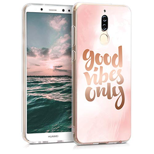 kwmobile Huawei Mate 10 Lite Hülle - Handyhülle für Huawei Mate 10 Lite - Handy Case in Rosa Rosegold Weiß