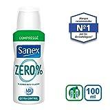 Sanex 0% - Desodorante comprimido (extraeficacia, 100ml, lote de 3 unidades)