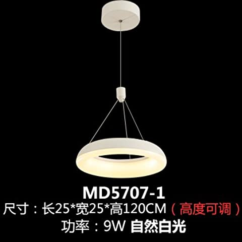 qwer Arte lampadari led Soggiorno moderno Lounge Ristorante personalità lampade negozi atmosferica ville duplex decorate con lampadari, Testa - lunga 3925* 25* ad alta larghezza di banda di 120cm-9W luce bianca naturale