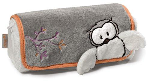 NICI - Happy Winter, estuche enrollable de peluche , diseño de búho nival, 19 x 7 x 7 cm (37978)