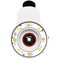 Generic 9 in 1 Multifunzione Professionale Portatile Clip-on LED Selfie Flash Fill Light Speedlite Spotlight Flash Luce lampada per iPhone, Samsung, iPad e altro Smartphone con USB Cable - Bianco