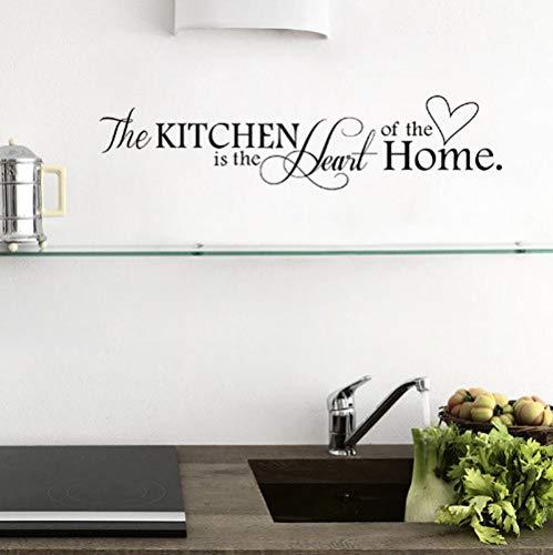 Star source Küche ist das Herzstück des Hauses Zitate Kunst Wandaufkleber für Restaurant Dekoration abnehmbare Abziehbilder diy Vinyl schwarz