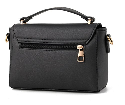 FZHLY 2017 In Pelle New Spring Piccola Piazza Del Signore PU Buckle Messenger Bag,LakeBlue Black