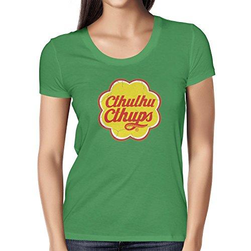TEXLAB - Cthulhu Cthups - Damen T-Shirt Grün