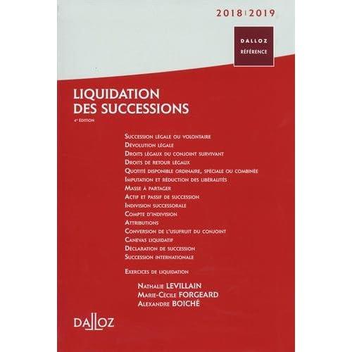 Liquidation des successions 2018/19 - 4e éd.