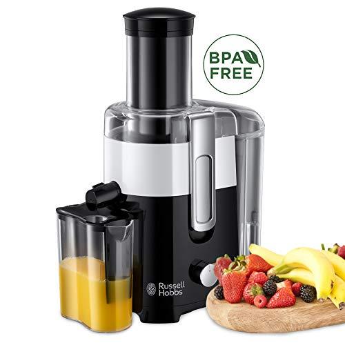 Russell Hobbs Entsafter Horizon, extra große Einfüllöffnung f. ganzes Obst & Gemüse, 2 Geschwindigkeitsstufen, 750ml Saftbehälter, 2,0l Fruchtfleischbehälter, BPA-frei, elektrische Saftpresse 24741-56