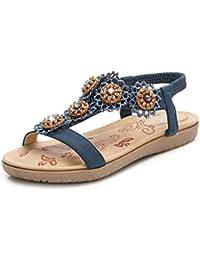 3193ae82be9e3 Sandals Donna Estivi Bohemia Sandals Scarpe Basse Aperte Sandali PU Cuoio  Bassi Sandali Elegante Sandals 35